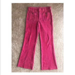 Free People pink corduroy pants